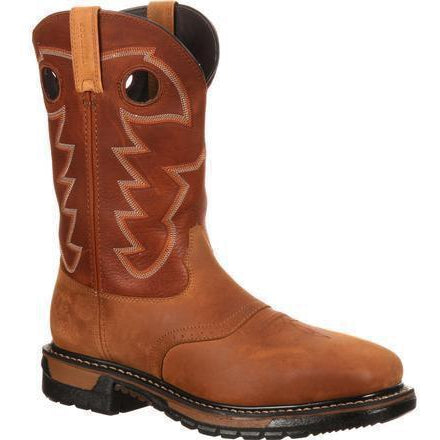 Rocky Men's Original Ride Steel Toe WP Western Boot- Brown- RKYW041 7.5 / Medium / Brown - Overlook Boots
