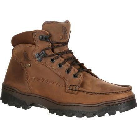 "Rocky Men's Outback 6"" Gor-Tex WP Hiker Boot - Brown - FQ0008723 7.5 / Medium / Brown - Overlook Boots"