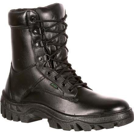 "Rocky Men's Postal Approved 8"" Duty Boot - Black  - FQ0005010 7.5 / Medium / Black - Overlook Boots"