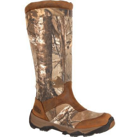 "Rocky Men's Retraction 17"" WP Side Zip Snake Hunting Boot Camo RKS0243 8 / Medium / Realtree Xtra - Overlook Boots"
