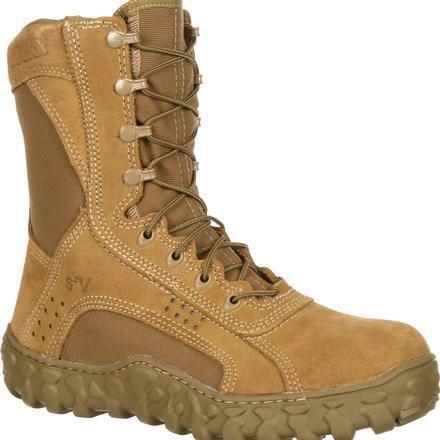 "Rocky Men's S2V 8"" Stl Toe Tactical Military Boot - Brown - FQ0006104 7.5 / Medium / Brown - Overlook Boots"