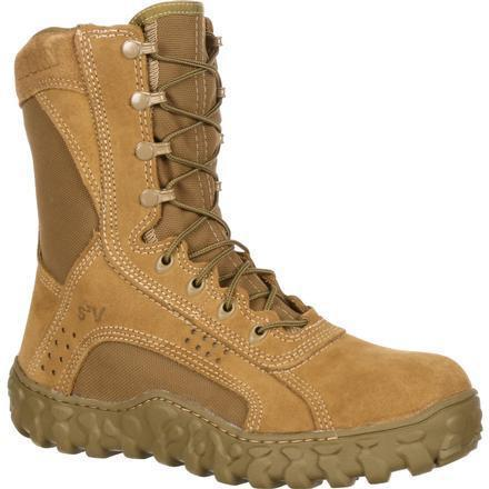 "Rocky Men's S2V 8"" Tactical Military Boot - Brown - FQ0000104 7.5 / Medium / Brown - Overlook Boots"