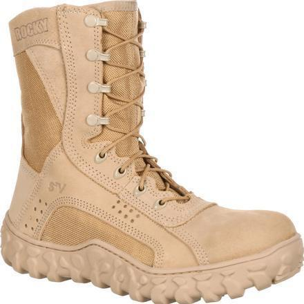 "Rocky Men's S2V 8"" Tactical Military Boot - Tan - FQ0000101 7.5 / Medium / Tan - Overlook Boots"