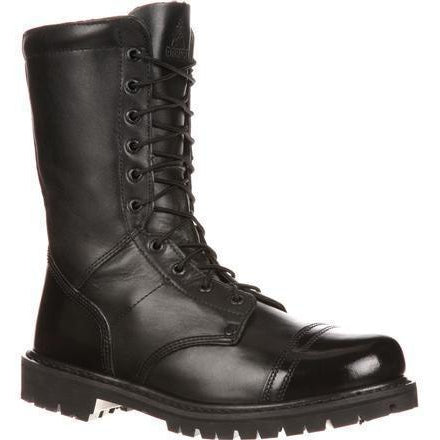 Rocky Men's Side Zipper Jump Duty Boot - Black - FQ0002090 7.5 / Medium / Black - Overlook Boots