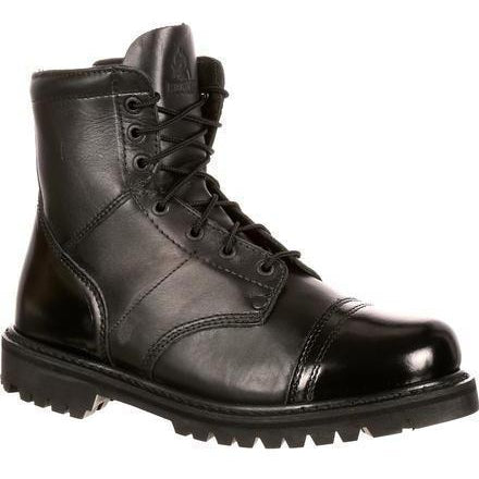 Rocky Men's Side Zipper Jump Duty Boot - Black - FQ0002091 7.5 / Medium / Black - Overlook Boots