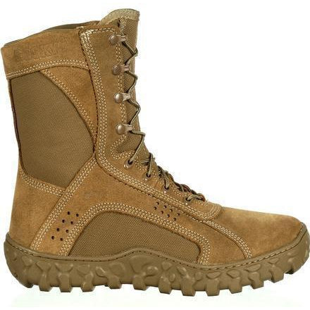 Rocky Men's USA Made S2V Tactical Military Boot - Brown - RKC050 7.5 / Medium / Brown - Overlook Boots