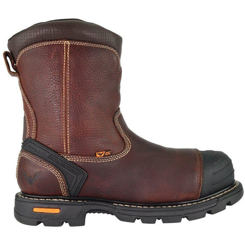 "Thorogood Men's 8"" Wellington Side-Zip Comp Toe Work Boot - 804-4440 7 / Medium / Brown - Overlook Boots"