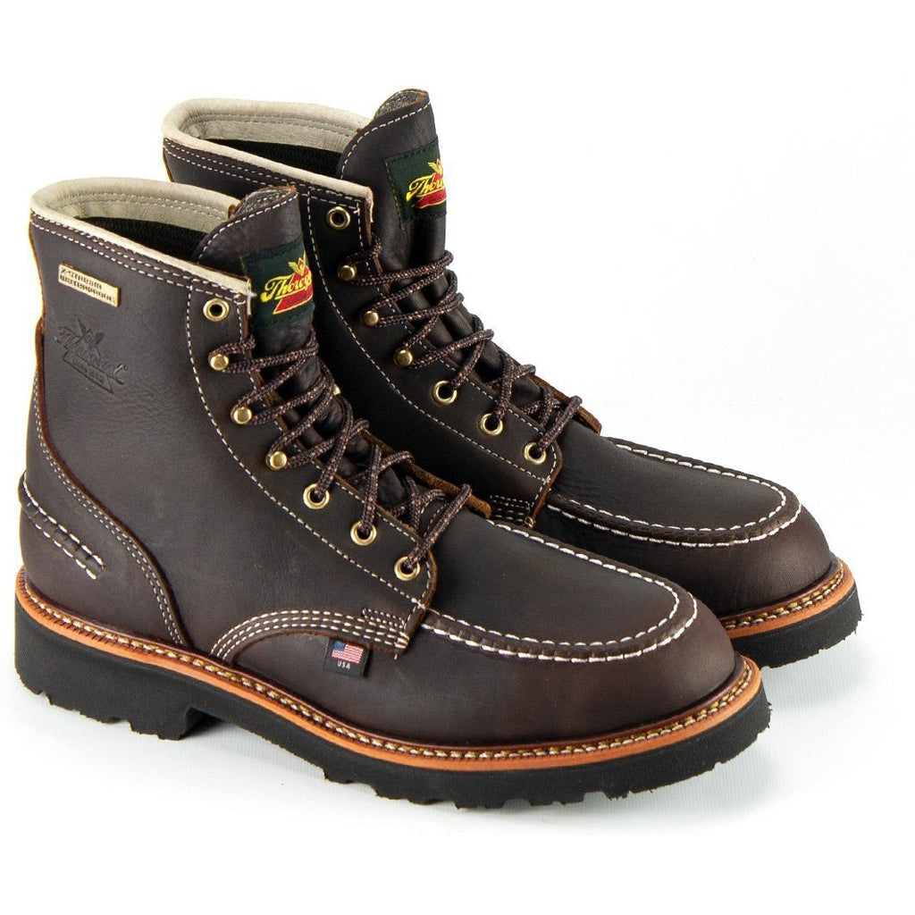 "Thorogood Men's Flyway 6""USA Made WP Work Boot - Brown - 814-4140 8 / Medium / Brown - Overlook Boots"