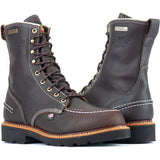 "Thorogood Men's Flyway 8""USA Made WP Work Boot - Brown - 814-4141  - Overlook Boots"