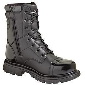 "Thorogood Men's GEN-flex 8"" Side Zip Jump Tactical Boot Black 834-6888 7 / Medium / Black - Overlook Boots"