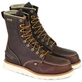 "Thorogood Men's USA Made 1957 8"" Moc Toe WP Work Boot Brown 814-3800  - Overlook Boots"