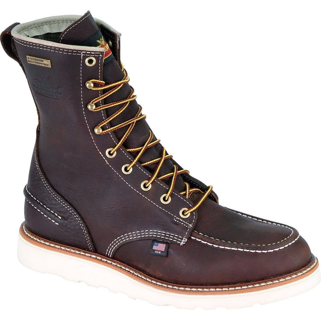 "Thorogood Men's USA Made 1957 8"" Moc Toe WP Work Boot Brown 814-3800 8 / Medium / Brown - Overlook Boots"