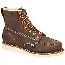 "Thorogood Men's USA Made Amer. Heritage 6"" Moc Toe Work Boot 814-4203 5 / Medium / Brown - Overlook Boots"