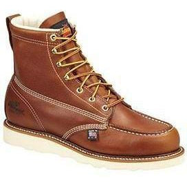 "Thorogood Men's USA Made Amer. Heritage 6"" Stl Toe Work Boot 804-4200 8 / Medium / Tobacco - Overlook Boots"
