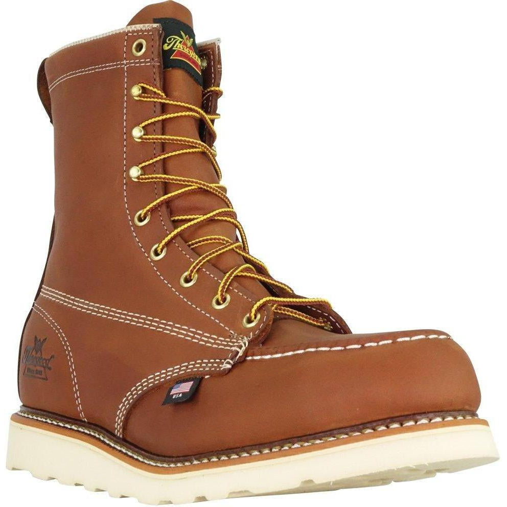 "Thorogood Men's USA Made Amer. Heritage 8"" Stl Toe Work Boot 804-4208  - Overlook Boots"
