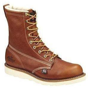 "Thorogood Men's USA Made American Heritage 8"" Work Boot - 814-4364 7 / Medium / Tobacco - Overlook Boots"