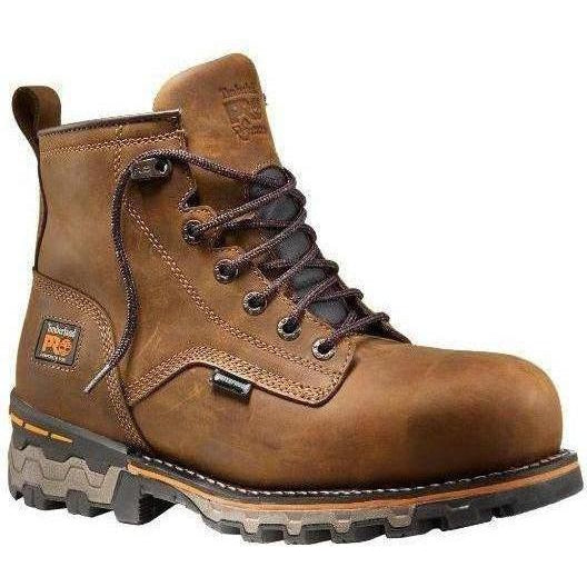"Timberland PRO Men's Boondock 6"" Comp Toe WP Work Boot - TB0A127G214 7 / Medium / Brown Distressed - Overlook Boots"
