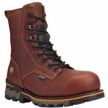 "Timberland PRO Men's Boondock 8"" Comp Toe WP Work Boot TB01112A210 7 / Medium / Brown Tumbled - Overlook Boots"
