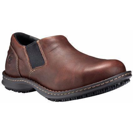 Timberland PRO Men's Gladstone Stl Toe Slip On Work Shoe - TB086509214 7 / Medium / Brown - Overlook Boots
