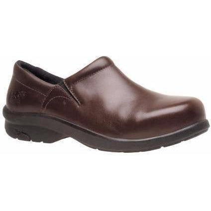 Timberland PRO Women's Newbury Alloy Toe Slip On Work Shoe TB085599214 5.5 / Medium / Brown - Overlook Boots
