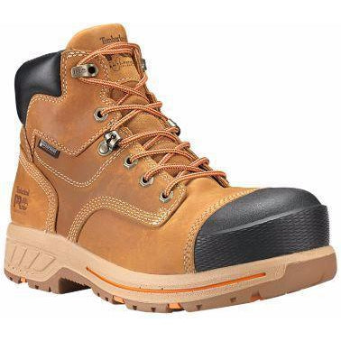 "Timberland PRP Men's Helix 6"" HD Comp Toe WP Work Boot -  TB0A1HPY231 7 / Medium / Wheat - Overlook Boots"