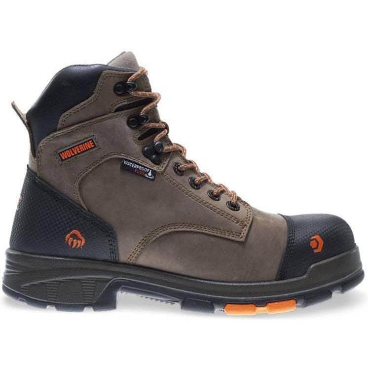 Wolverine Men's Blade LX Safety Toe WP Work Boot - Brown - W10653  - Overlook Boots