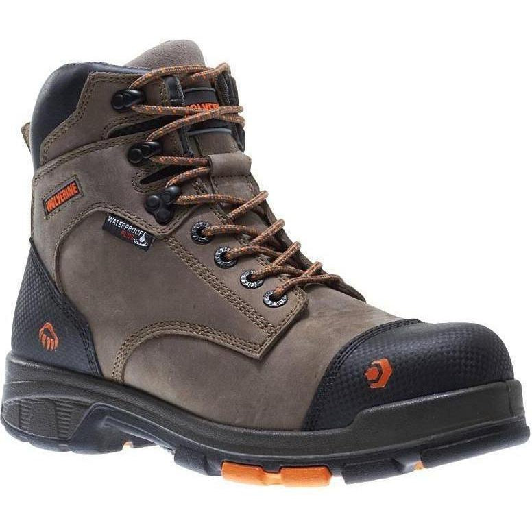 Wolverine Men's Blade LX Safety Toe WP Work Boot - Brown - W10653 7 / Medium / Brown - Overlook Boots