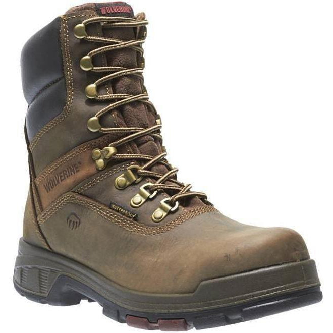 "Wolverine Men's Cabor EPX 8"" Comp Toe WP Work Boot - Brown - W10316 7 / Medium / Brown - Overlook Boots"