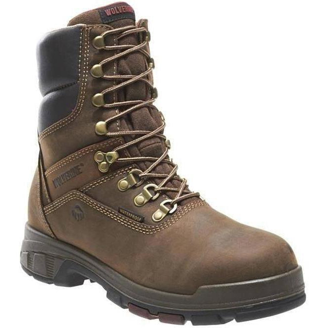 "Wolverine Men's Cabor EPX 8"" Soft Toe WP Work Boot - Brown - W10317 7 / Medium / Brown - Overlook Boots"