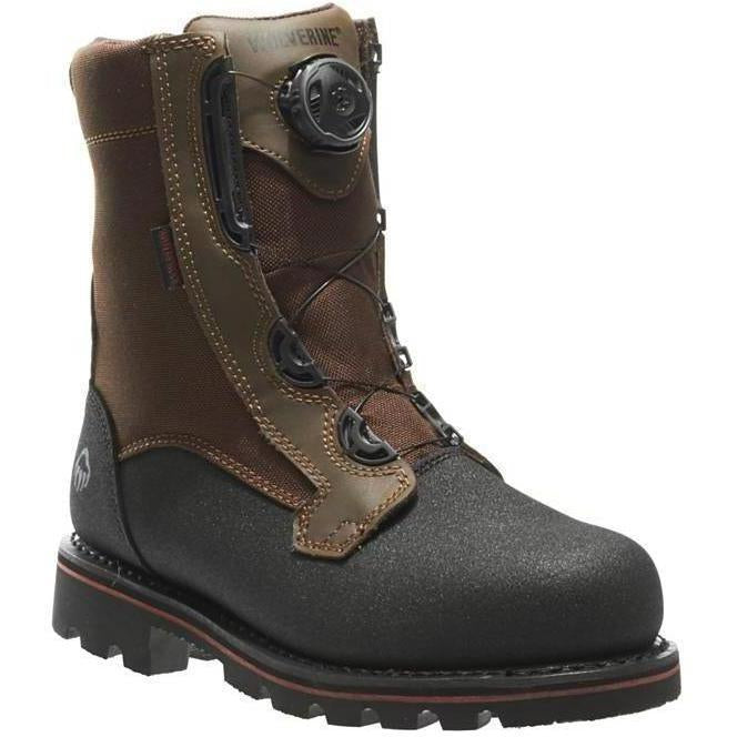 Wolverine Men's Drillbit Oil Rigger WP BOA Stl Toe EH Work Boot W10308 7 / Medium / Brown - Overlook Boots