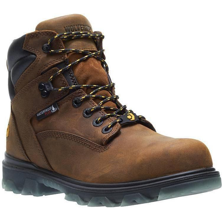 Wolverine Men's I-90 EPX Carbonmax Safety Toe WP Work Boot Brown W10788 7 / Medium / Brown - Overlook Boots