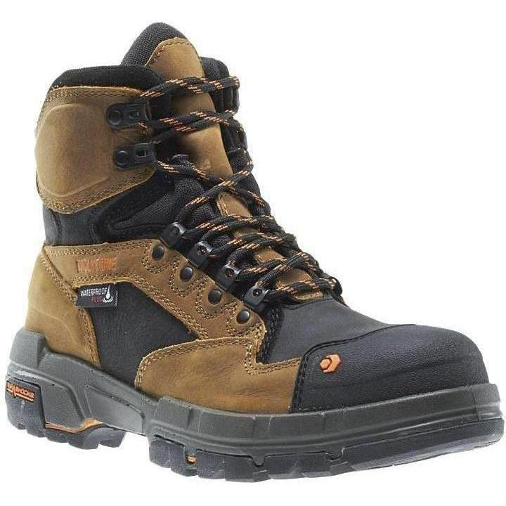 "Wolverine Men's Legend Durashocks Safety Toe 6"" Work Boot W10611 7 / Medium / Tan - Overlook Boots"