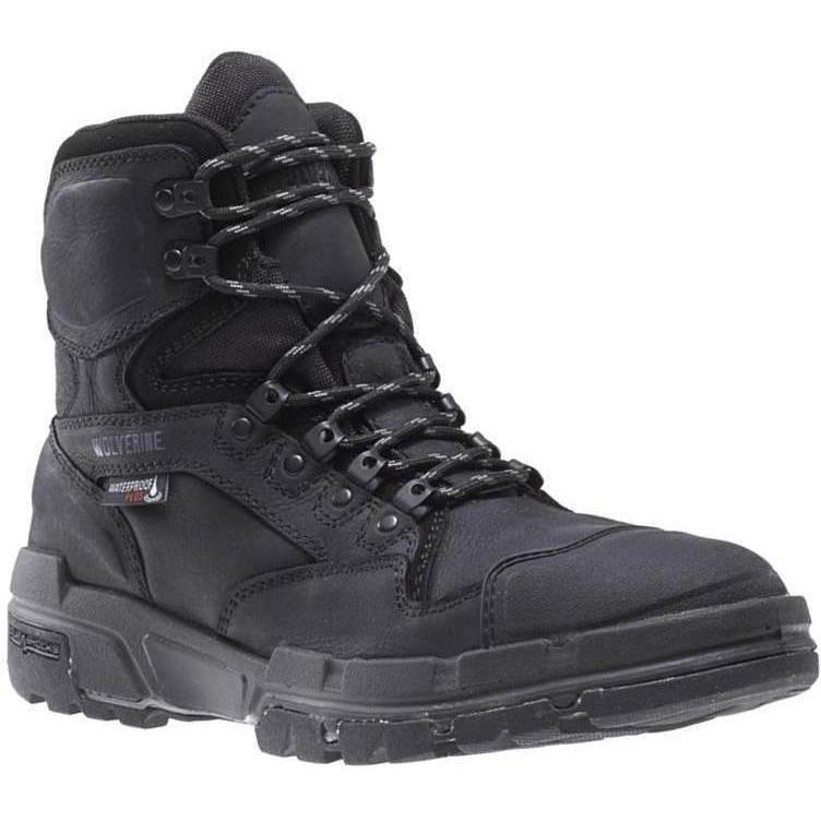 "Wolverine Men's Legend Durashocks Safety Toe 6"" Work Boot W10613 7 / Medium / Black - Overlook Boots"