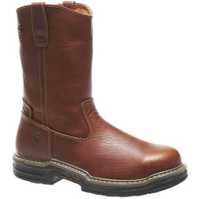 "Wolverine Men's Raider Stl Toe 10"" Wellington Work Boot - Brown W02427 7 / Medium / Brown - Overlook Boots"