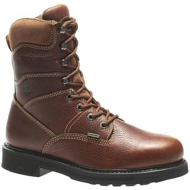 "Wolverine Men's Tremor Durashocks Soft Toe 8"" Work Boot Brown W04328 7 / Medium / Brown - Overlook Boots"