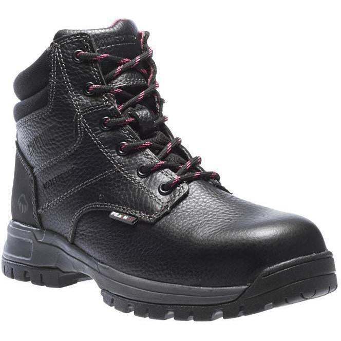 "Wolverine Women's Piper 6"" Comp Toe WP EH Work Boot - Black - W10181 5 / Medium / Black - Overlook Boots"