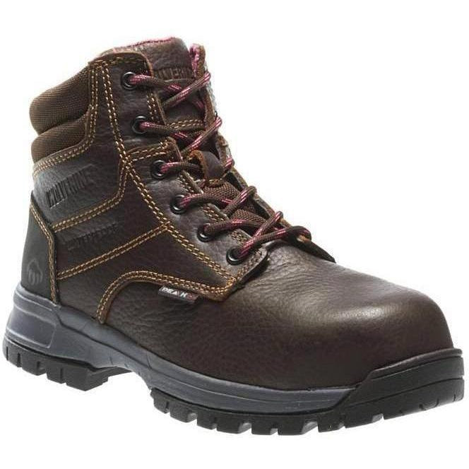 "Wolverine Women's Piper 6"" Comp Toe WP EH Work Boot - Brown - W10180 5 / Medium / Brown - Overlook Boots"