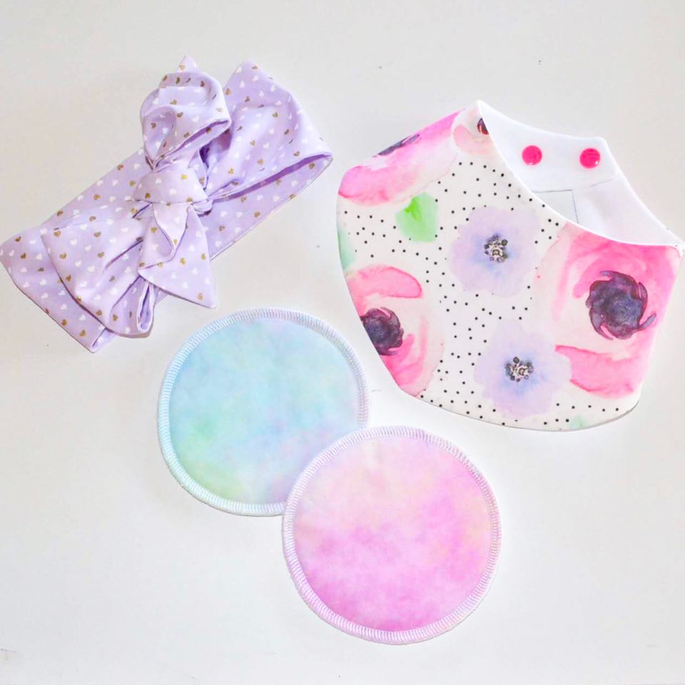 Reusable Breast Pads - Pastel Tie Dye