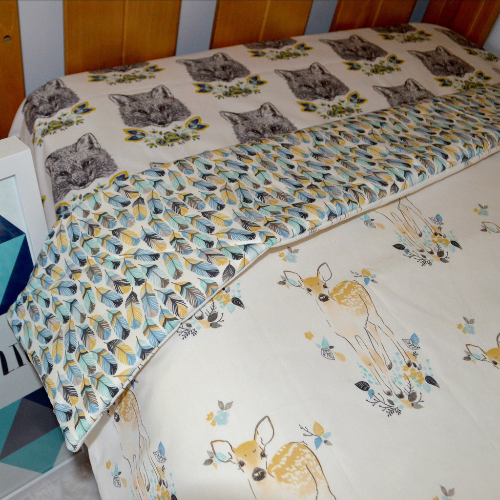 'Falling Fawn' Cot Quilt