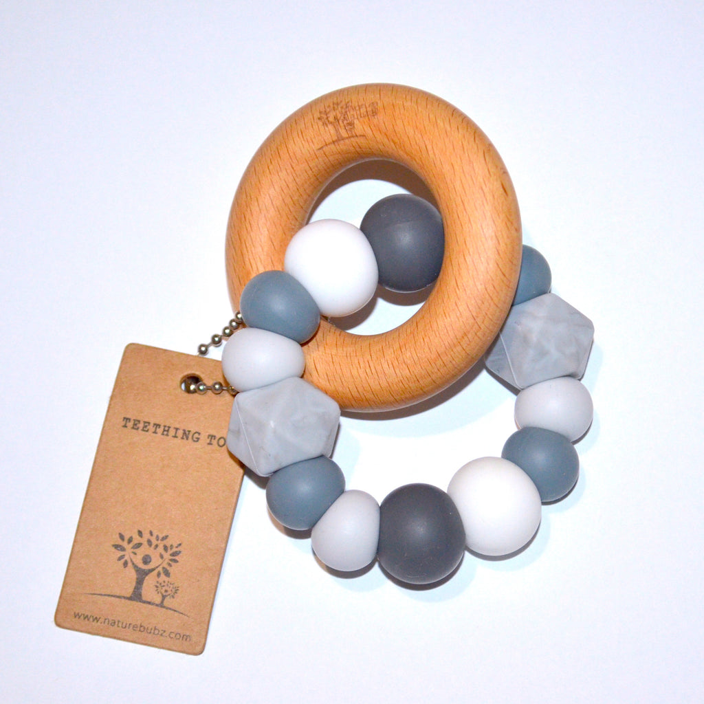 Teether & Beech Ring - Stormy Sky