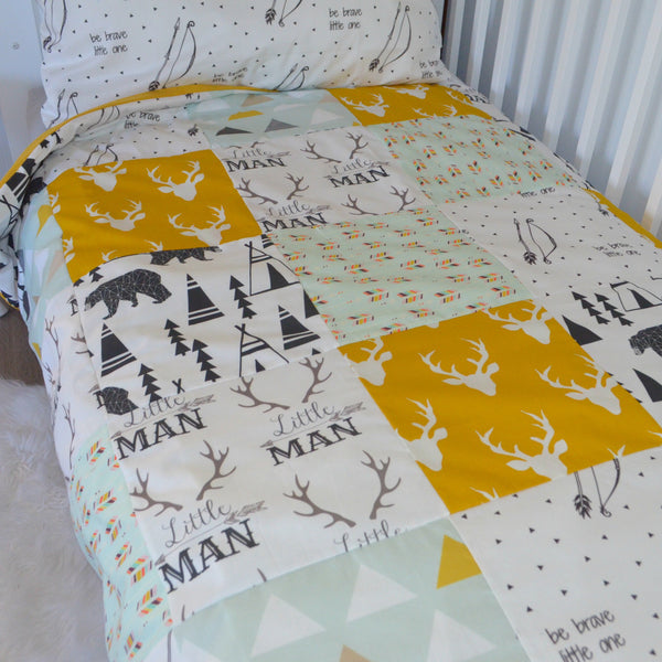 Patchwork Cot Quilt Cover
