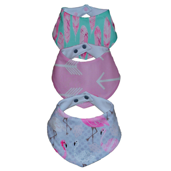 Bandana Bibs - Flamingo Flow Collection
