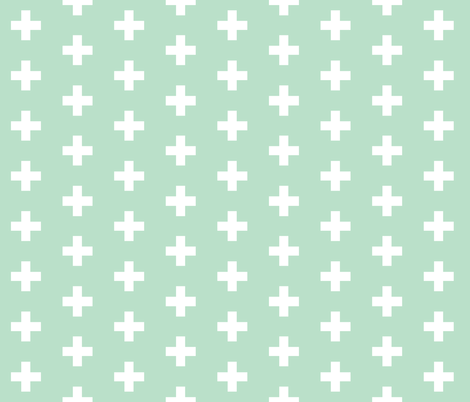 Mint Cross Organic Swaddle Blanket