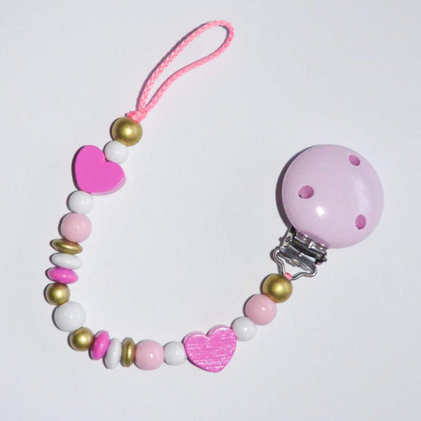 Dummy Clip // candy pink hearts