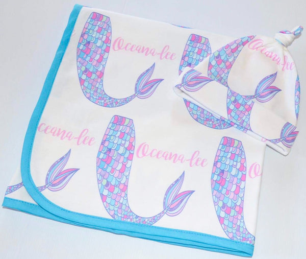 Personalised Organic Blanket - Mermaid Tail