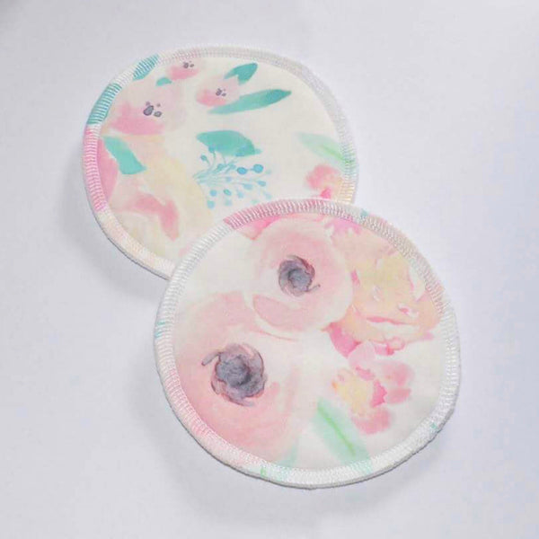 Reusable Breast Pads - Pastel Flowers