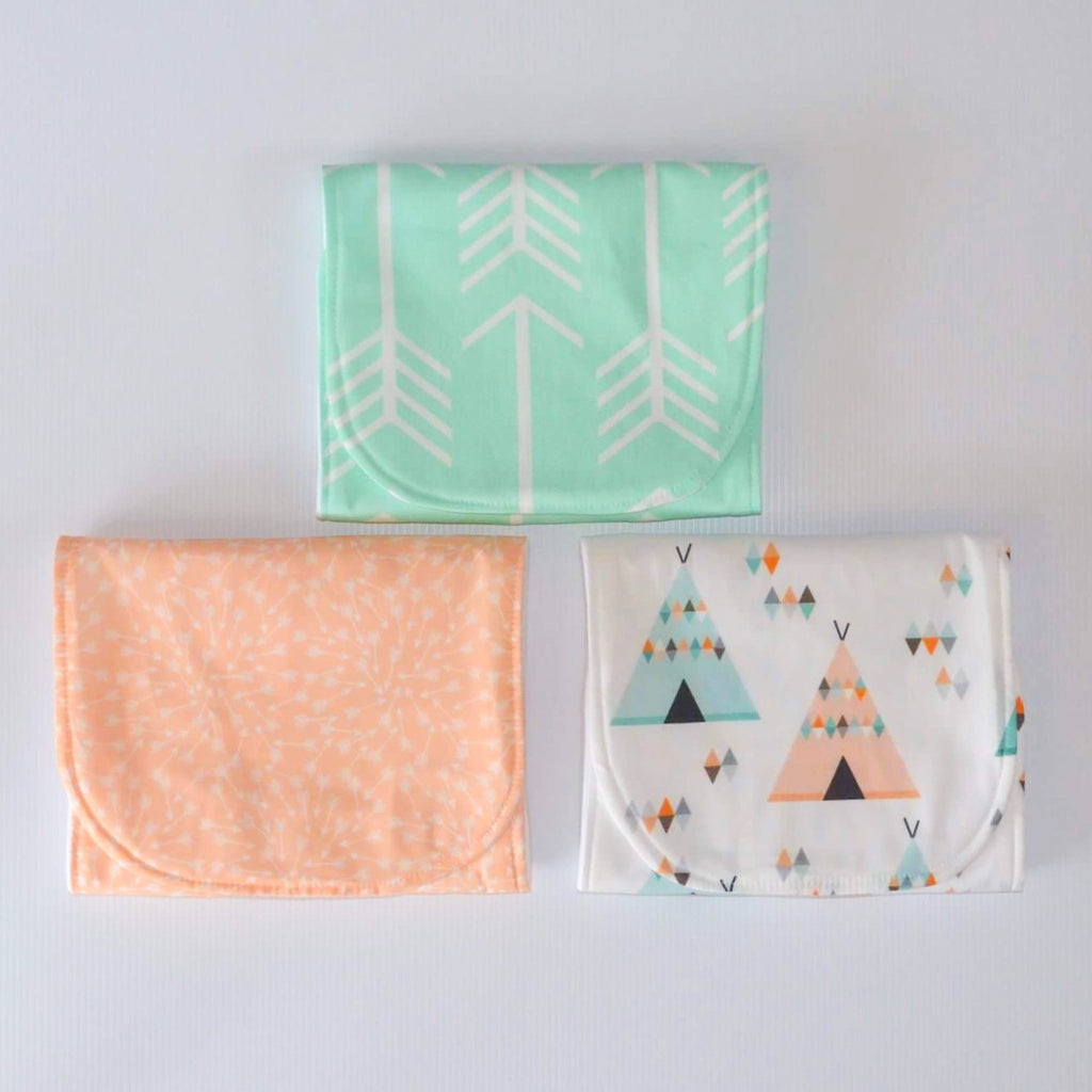 Burp Cloths - Tropic Teepee Collection