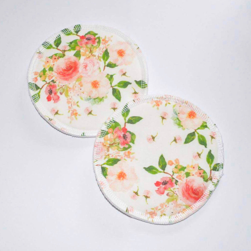 Reusable Breast Pads - Peachy Florals