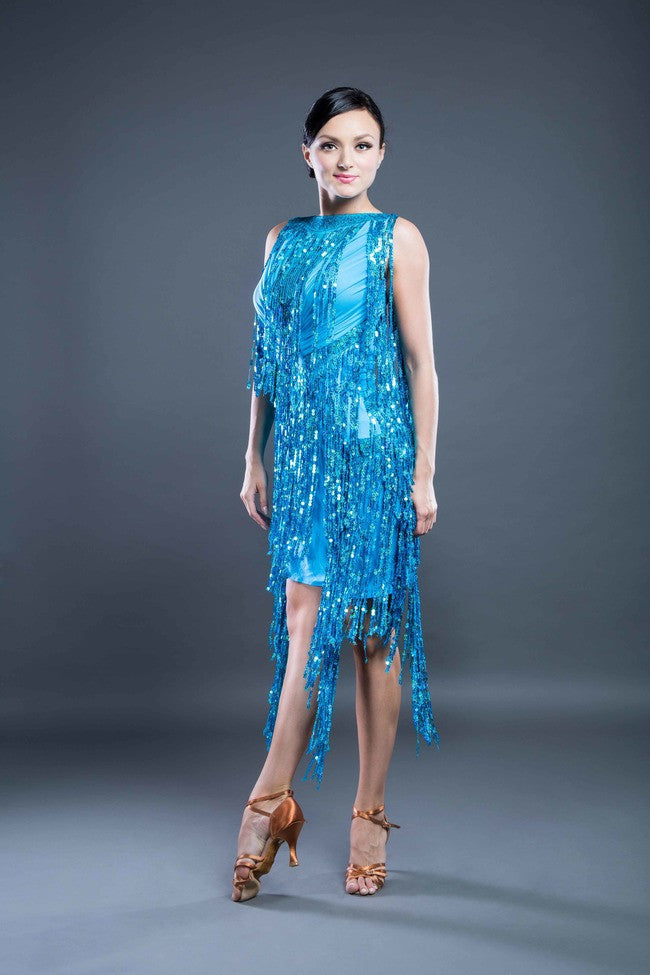 DanceSport Latin Fringe Dress Sale from Dancewear For You