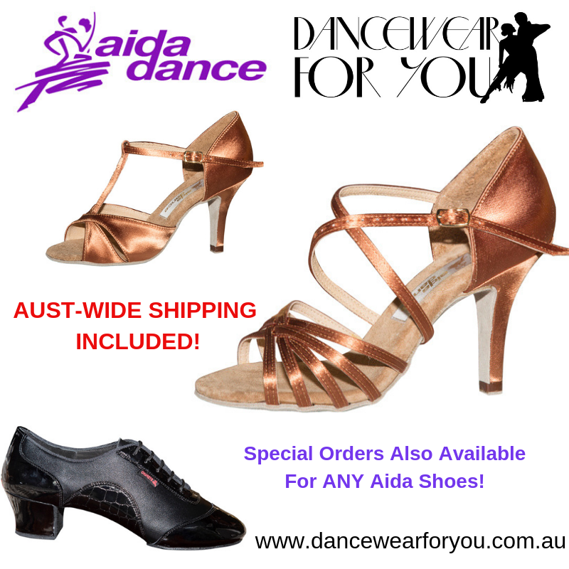Aida Dance Shoes with free shipping from Dancewear For You Australia